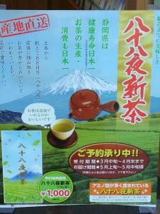 新茶のチラシ