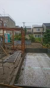 増築部分基礎工事-2