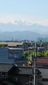 自宅から見た白山-2